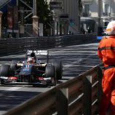 Nico Hülkenberg afronta una curva en Mónaco