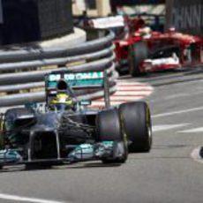 Nico Rosberg estuvo al frente de los Libres 1 y 2 de Mónaco