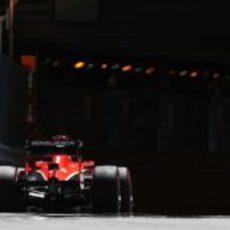 Max Chilton apunto de entrar en el mítico túnel de Mónaco