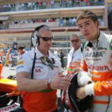 Paul di Resta, instantes antes del GP de Mónaco 2013