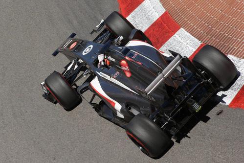 Nico Hülkenberg afronta una de las curvas de Mónaco