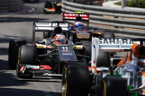 Nico Hülkenberg a toda velocidad en el GP de Mónaco 2013