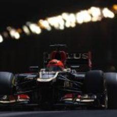 Kimi Räikkonen sale del túnel de Mónaco