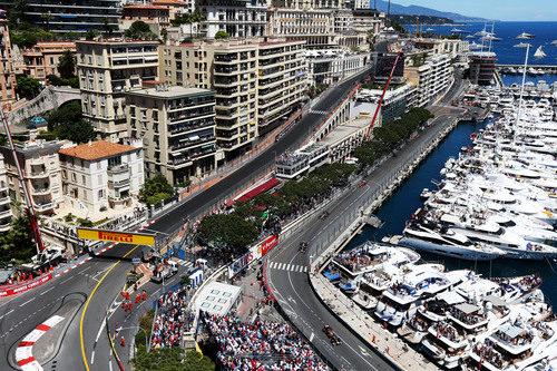 Vista aérea del trazado de Mónaco