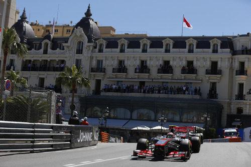 Sergio Pérez estuvo muy fuerte en Mónaco