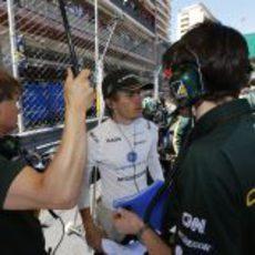 Charles Pic se prepara para el GP de Mónaco 2013