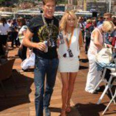 David Hasselhoff y Hayley Roberts en Mónaco