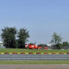 Rodando en Fiorano con Ferrari