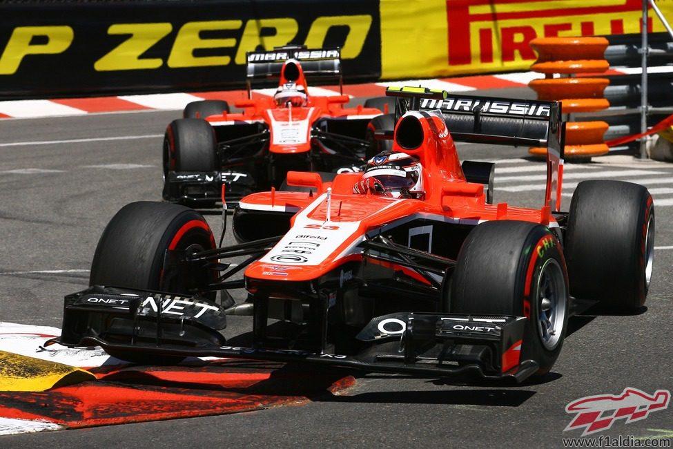 Los dos Marussia, a la caza en Mónaco