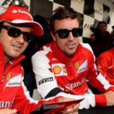 Fernando Alonso y Felipe Massa, en Montreal