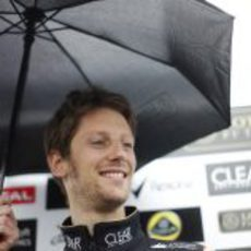 Romain Grosjean, 'under the umbrella' en Montreal
