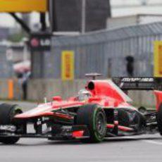 Jules Bianchi no terminó los Libres 1 en Canadá