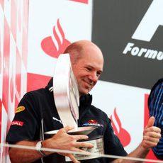 Adrian Newey en el podio