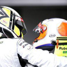 Barrichello y Button entre los 3 mejores