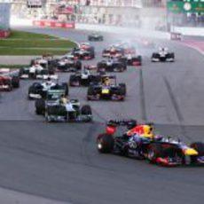 Salida del GP de Canadá 2013