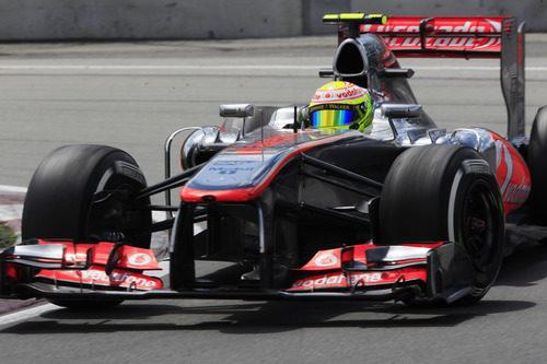 Sergio Pérez opta por el neumático medio para su segundo 'stint' de carrera