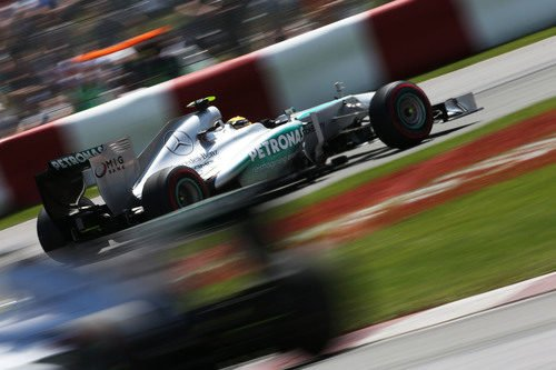 Lewis Hamilton terminó muy serio el GP de Canadá