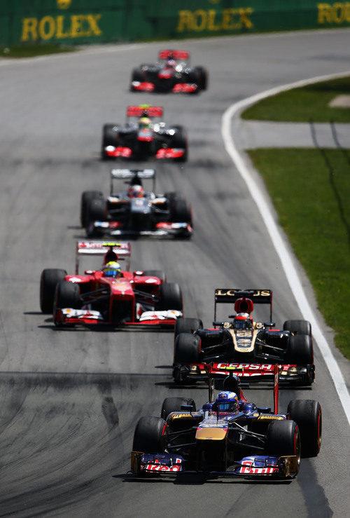 Daniel Ricciardo rueda con el superblando en carrera