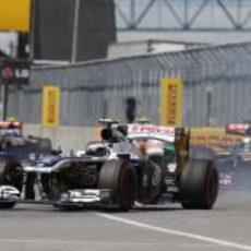 Valtteri Bottas no pudo transformar en puntos su posición de salida
