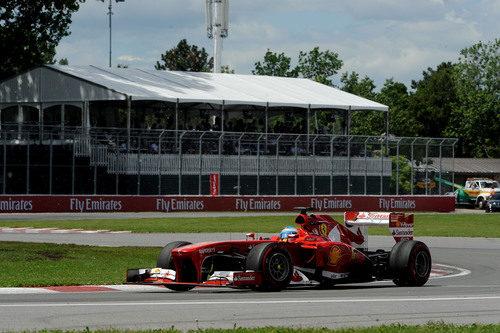 Fernando Alonso rueda con mucho ritmo en Canadá