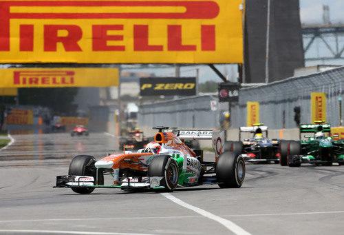 Paul di Resta afronta otra de las vueltas del GP de Canadá 2013