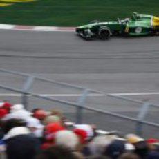 Giedo van der Garde rueda con el medio durante el GP de Canadá 2013