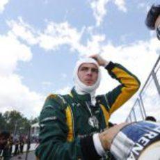 Giedo van der Garde minutos antes de que comience el GP de Canadá 2013