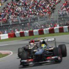 Esteban Gutiérrez acelera para escapar del Lotus