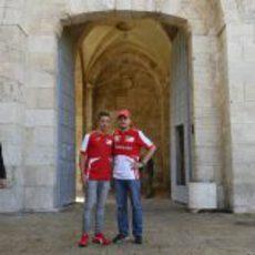 Giancarlo Fisichella y Antonio Fuoco aprovechan para visitar los monumentos de Jerusalén
