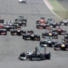 Salida del GP de Gran Bretaña 2013