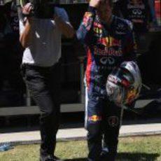 Sebastian Vettel, cabizbajo tras su abandono