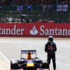 Abandono de Sebastian Vettel en Silverstone