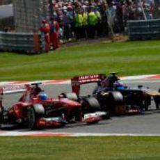 Fernando Alonso tuvo una bonita lucha con Daniel Ricciardo