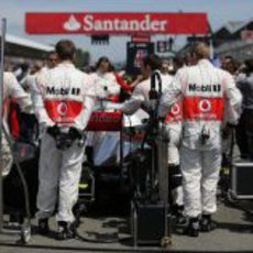 Jenson Button, en la parrilla de salida