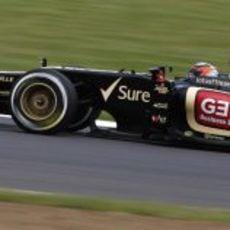 Kimi Räikkönen estuvo en posición de podio durante parte de la carrera en Silverstone