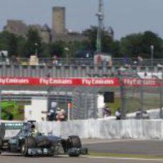 Nico Rosberg no tuvo ritmo en Alemania