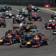 Salida del GP de Alemania 2013
