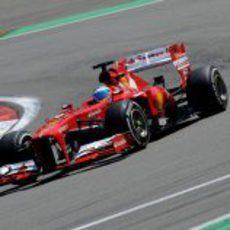 Fernando Alonso rozó el podio en Nürburgring