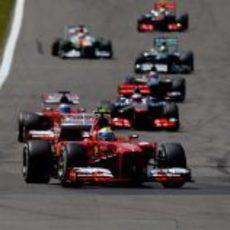 Felipe Massa no terminó el GP de Alemania