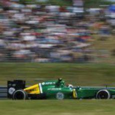 Giedo van der Garde rueda en el GP de Alemania 2013