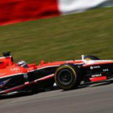Jules Bianchi no terminó el GP de Alemania 2013