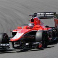 El motor del MR02 de Jules Bianchi se incendió