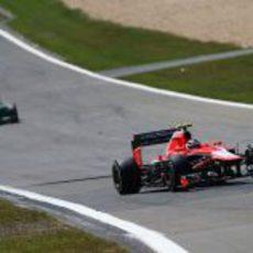 Max Chilton dio la alegría en Marussia en Alemania