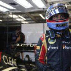 Nicolas Prost en el puesto de Kimi Räikkonen