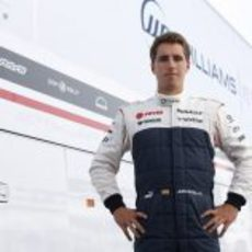 Dani Juncadella posa como piloto de Williams