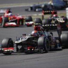 Romain Grosjean en las primeras vueltas del GP de Alemania