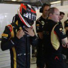 Kimi Räikkönen no estuvo muy cómodo en la clasificación