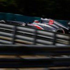 Nico Hülkenberg rueda con el neumático medio