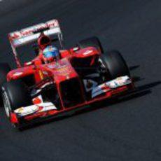 Fernando Alonso rueda con el medio