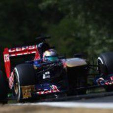Jean-Eric Vergne cayó en la Q2 de Hungría